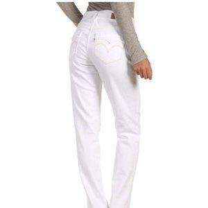 Levi's 529 curvy straight white jeans